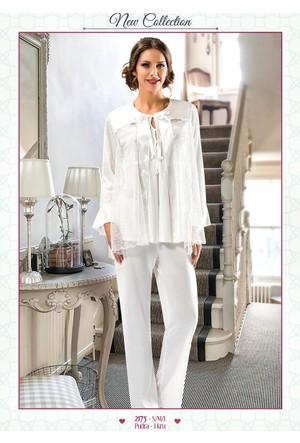 Xses Hamile 3 Lü Sabahlıklı Lohusa Pijama Takımı 2175