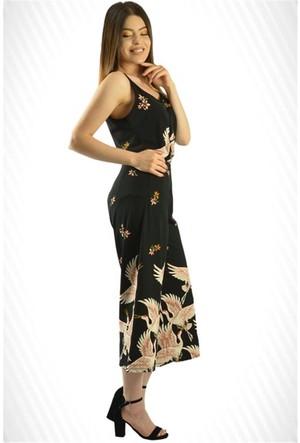 Modamla Kuşlu İspanyol Tayt Pantolon