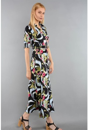 Rodin Hills Turkuaz Bayan Elbise 200078