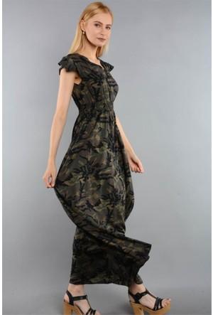 Rodin Hills Haki Bayan Dokuma Elbise 6294