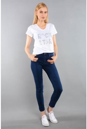 Rodin Hills Mavi Bayan Yüksek Bel Kot Pantolon 315