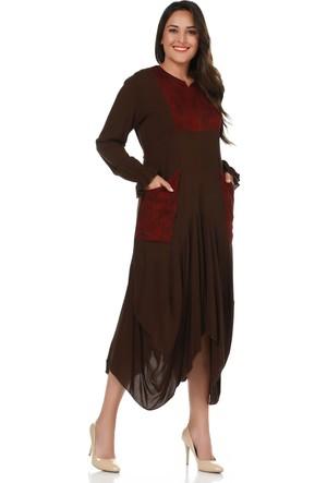 Öz Güvenç Kadın Elbise - Kahverengi
