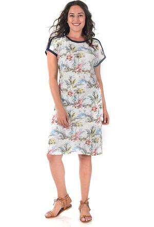 Tepa Ekru Biyeli Summer Elbise 50