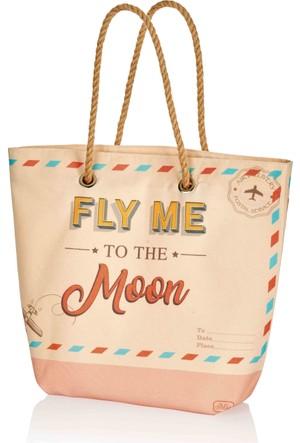 The Mia Plaj Çantası 45X35 Cm - Fly