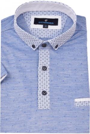 Ottomoda Mavi Renk Polo Yaka Erkek Tshirt