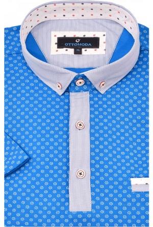 Ottomoda Desenli Erkek Polo Tshirt