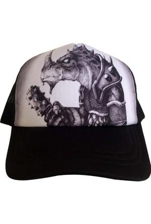 Kazandıran Outlet Dinazor Desenli Fileli Şapka Kep Erkek