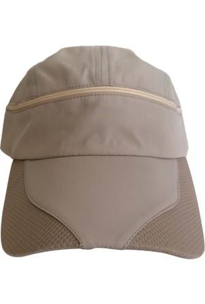 Kazandıran Outlet Erkek Bej Gölgelikli Şapka