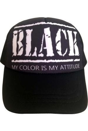 Kazandıran Outlet Black Fileli Şapka Kep Erkek