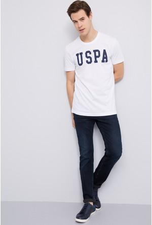 U.S. Polo Assn. Erkek Noir T-Shirt Beyaz