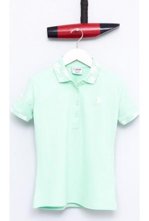 U.S. Polo Assn. Kız Çocuk Sd01 T-Shirt Yeşil