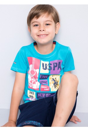 U.S. Polo Assn. Erkek Çocuk Bodi T-Shirt Mavi