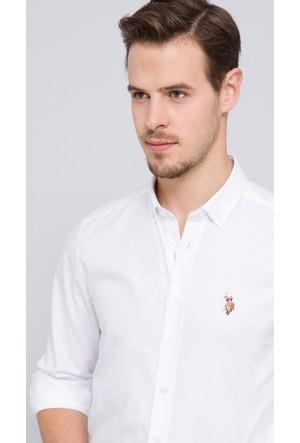 U.S. Polo Assn. Erkek Cedcolor17K Gömlek Beyaz