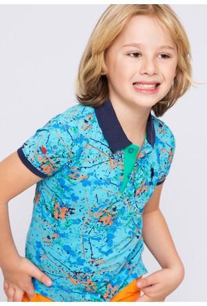 U.S. Polo Assn. Erkek Çocuk Leon T-Shirt Yeşil
