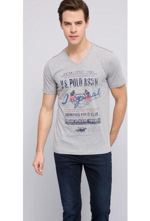 U.S. Polo Assn. Erkek Memphis T-Shirt Gri Melanj