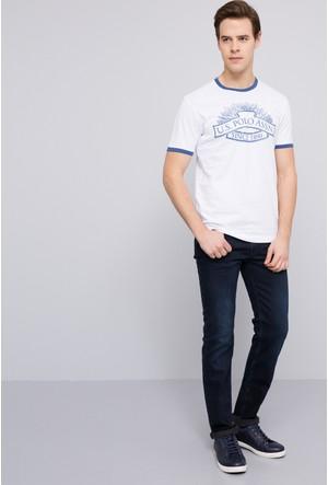 U.S. Polo Assn. Erkek Nebula T-Shirt Beyaz