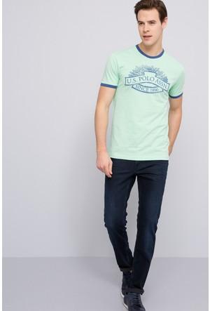 U.S. Polo Assn. Erkek Nebula T-Shirt Yeşil