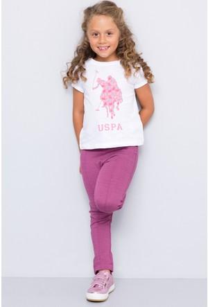 U.S. Polo Assn. Kız Çocuk Valet T-Shirt Beyaz