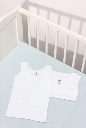Dagi Kız Çocuk 2'li Kız Çocuk Atlet Beyaz K017Y0040