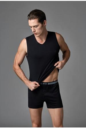 Eros Erkek 2'li Penye Atlet Siyah ES011521