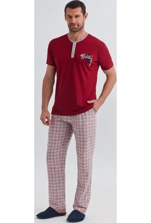 Dagi Erkek 3'lü Pijama Takımı Bordo E0217Y0200