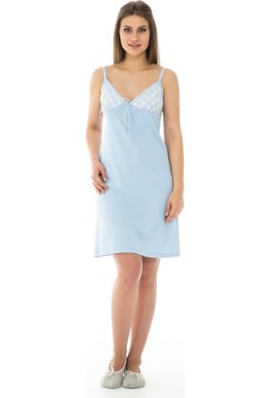 Dagi Kadın Gecelik Açık Mavi B0216Y0200