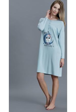 Dagi Kadın Gecelik Mavi B0216K0800