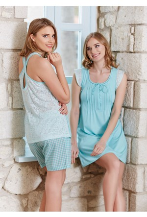 Dagi Kadın Gecelik Mint B0216Y0240