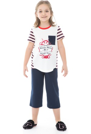 Dagi Kız Çocuk Kapri Takımı Lacivert C0216Y0260