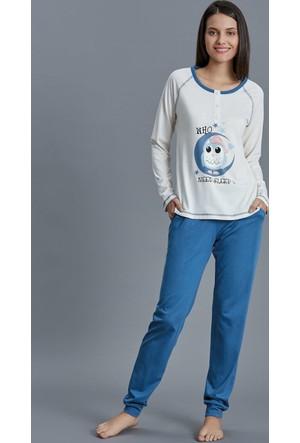 Dagi Kadın Pijama Takımı Ekru B0216K0790