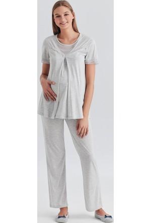 Dagi Kadın Pijama Takımı Gri B0217Y0300