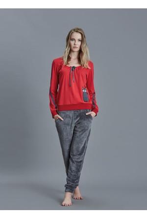 Dagi Kadın Pijama Takımı Kırmızı B0216K0970