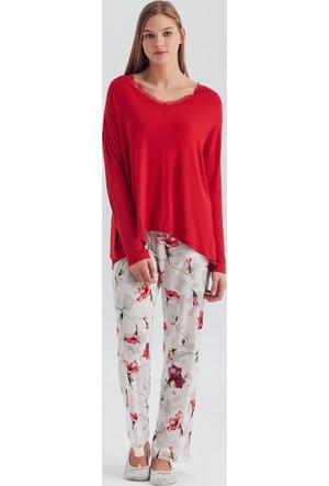 Dagi Kadın Pijama Takımı Kırmızı B0217Y0360