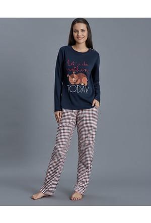 Dagi Kadın Pijama Takımı Lacivert B0216K0600