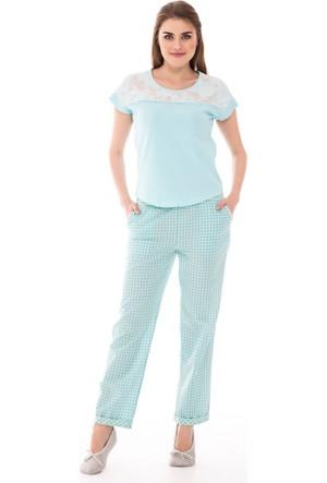 Dagi Kadın Pijama Takımı Mint B0216Y0260
