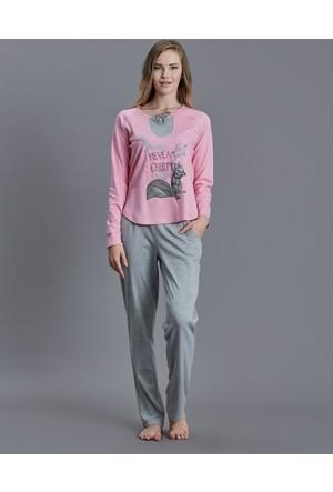 Dagi Kadın Pijama Takımı Pembe B0216K0870