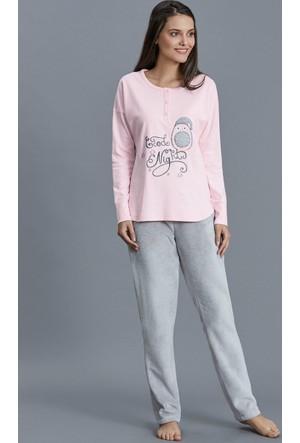 Dagi Kadın Pijama Takımı Pembe B0216K1180