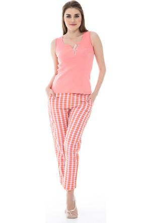 Dagi Kadın Pijama Takımı Somon B0216Y1040