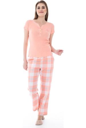 Dagi Kadın Pijama Takımı Somon B0216Y1060