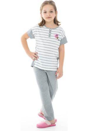 Dagi Kız Çocuk Pijama Takımı Gri Melanj C0216Y0280