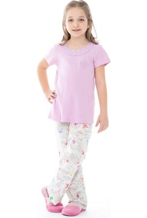 Dagi Kız Çocuk Pijama Takımı Lila C0216Y0130