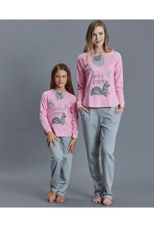 Dagi Kız Çocuk Pijama Takımı Pembe K0216K0190