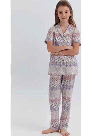 Dagi Kız Çocuk Pijama Takımı Pudra K0217Y0080