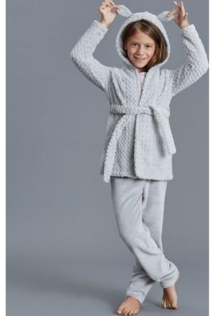 Dagi Kız Çocuk Polar Sabahlık Gri K0216K0160