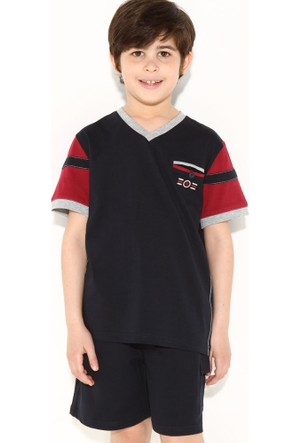 Dagi Erkek Çocuk Şort Takımı Lacivert C0215Y0023