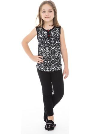 Dagi Kız Çocuk Tayt Pijama Takımı Siyah C0216Y0220
