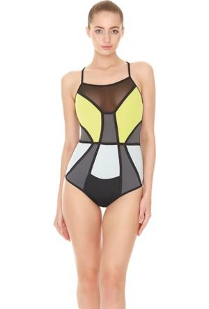 Dagi Kadın Yüzücü Mayo Antrasit B0117Y0280