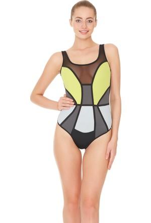 Dagi Kadın Yüzücü Mayo Antrasit B0117Y0300