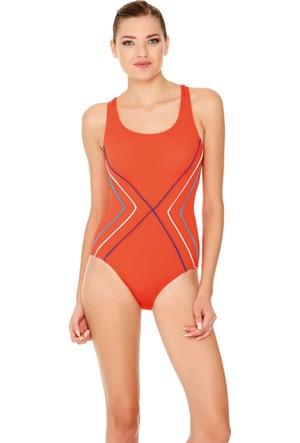 Dagi Kadın Yüzücü Mayo Turuncu B0117Y0100