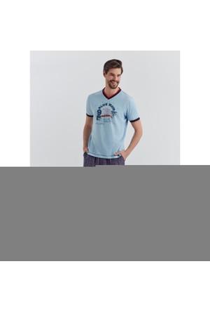 Dagi Erkek Pijama Takımı Mavi E0217Y0340